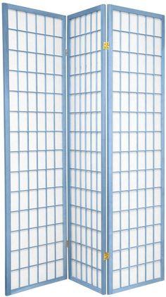 "6 ft. Tall Window Pane Shoji Screen - Special Edition | RoomDividers.com 17""W x 69.5""H (per panel)"