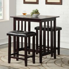 Found it at Wayfair - Richland 3 Piece Counter Height Pub Table Set