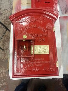 Antique fire alarm pull station