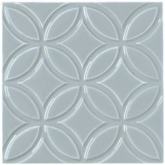 Painters Grey Circle Decor - Blue & purple - Shop by colour - Wall & Floor Tiles | Fired Earth
