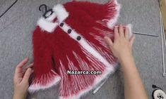 Örgü ipleri ve Tarama Tekniği ile Yalancı Kürklü Kız Çocuk Yılbaşı Mantosu olarak yapılan Baştan sona Şiş ile Yapılışı öğretilen Örgünün Kürke dönüştürülmesi ve videolu yapım aşamaları. Toplam 6 Yumak 3 Beyaz 3 Kırmızı Nako Paris İpler kullanılmış. Eğer renklerin aynısını almak isterseniz Nako Paris Kırmızı İp numarası:3641 3 tane-Nako Paris Beyaz ip no: 208 3 Yumak hepsi 6 Yumak. orgu-kurk-gorunumlu-kiz-cocuk-yilbasi-mantosu 4 Numara şiş ile 72 tane İlmek atılarak başlanan Manto ortalama…
