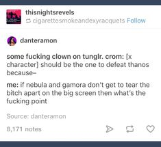 As much as I would love Iron man or T'challa to rip that wrinkled grape to shreds, op does have a point