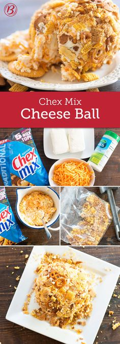 Looking for an easy appetizer? Try this creamy cheese ball that's rolled in a coating of crispy Chex Mix™! You can make the cheese ball in advance--simply cover and refrigerate; coat with snack mix just before serving so it does not get soggy.