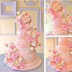 pretty pink cake  https://www.facebook.com/awishandawhisk