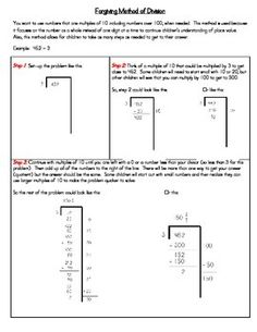 This gives a step-by-step to using the Forgiving Method for Division. Great for parents and teachers! (CCSS - 4.NBT.6, 5.NBT.6)