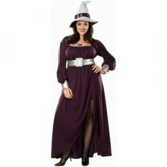 Amethyst Witch Plus Size Costume Dress - Halloween Plus Size Costumes For Women