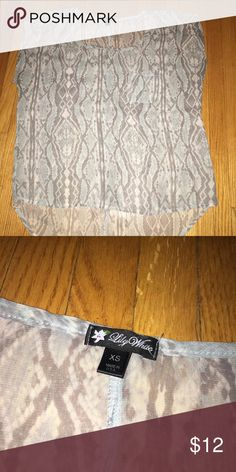 152f8cc9b3d Mint and grey blouse Sheer shirt that is a mint blue and grey color that