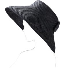 Aerusi Straw Wide Brim Foldable Roll Up Floppy Visor Sun Hat with Bow ** For more information, visit now : Best Travel accessories for women