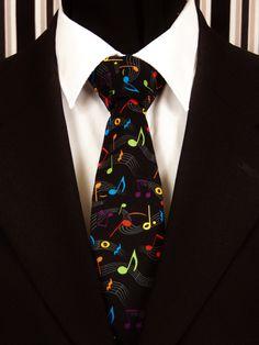 Mens Guitar Music Penguin With UK Flag Vintage Neck Tie Skinny Ties