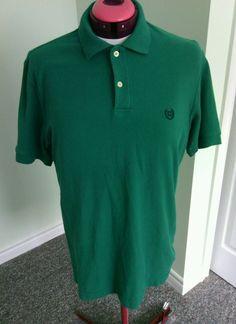 Chaps Ralph Lauren Green Men's Polo Shirts Size M Sports Cotton Short Sleeves t  | eBay