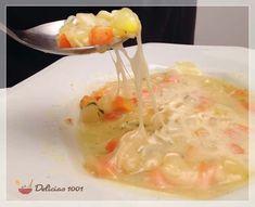 sopa de legumes e queijo