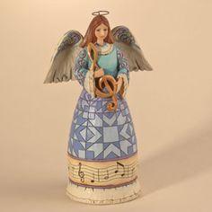 Music Angel holding Treble Cle