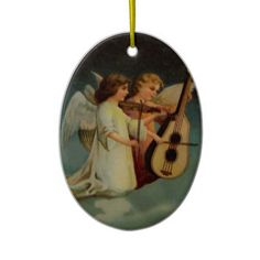 Musicale Angels Ornament http://www.zazzle.com/musicale_angels_ornament-175084288887807312?rf=238271513374472230 #christmas