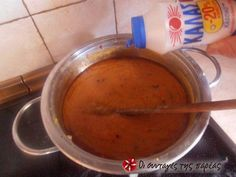 """Κόκκινες φακές σε σούπα, μία """"άγνωστη"""" νοστιμιά!!! συνταγή από ggr - Cookpad Cheeseburger Chowder, Fondue, Soup, Ethnic Recipes, Soups"""