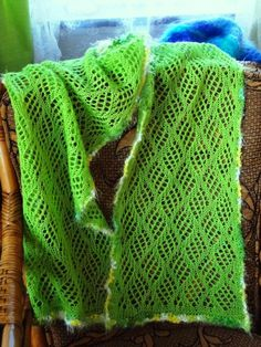 Spring Fling - Checkerboard Lace Scarf