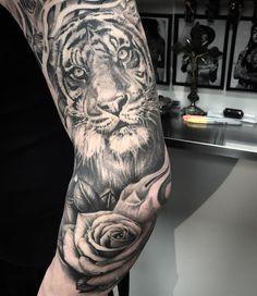 Healed favourite #tigertattoo