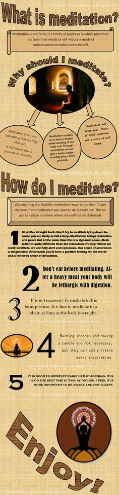 My own design - infographic on how to meditate www.carolinebakker.com