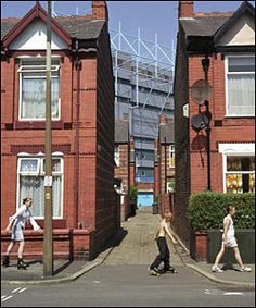 Photographer Len Grant documented the demolition of Maine Road. Manchester Street, Manchester Art, Manchester England, Manchester Football, Concept Architecture, Old Photos, Britain, Maine, Concept Board