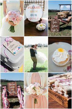 Sweet Farm Wedding with Vintage DIY Details