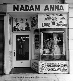 Window front of Madam Anna's at The Pike, Long Beach, California, Photo by William Reagh. She told me my fortune in It turned out to be very accurate. Long Beach Pike, Long Beach California, California History, Southern California, Vintage California, Lakewood California, Hotel California, California Coast, Love And Marriage