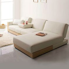 Japanese simple folding sofa bed leather sofa bed small apartment sofa bed multi-functional sofa bed - Taobao