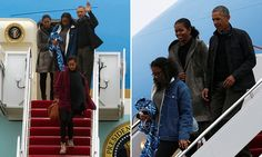 The Obamas departed Hawaii around 10pm on Sunday and arrived Monday at Andrews Air Force Base in Maryland. Obama spent his last day on the island visiting his grandfather's grave.