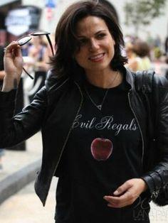 Lana Parrilla...I want a T-Shirt like Lana's! Love this Evil Regal T-Shirt!
