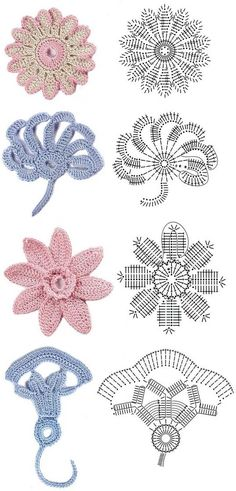 Share Knit and Crochet: Crochet flowers diagram 2