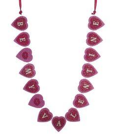 Love this Red & Pink Heart Garland on #zulily! #zulilyfinds