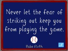 Babe Ruth Baseball Great Inspirational Quote by NicolesNook1213, $3.00 Other great quotes in Nicole's Nook on etsy! Check it out!!