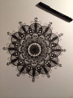 Dot work Mandala: completed recently to continue building up my portfolio. #mandala #dotwork #indianink