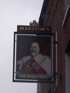 The Kings Head, Lichfield - pub sign