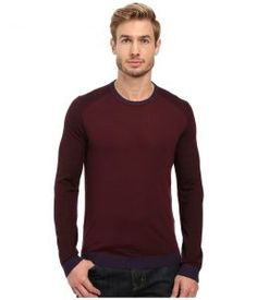Ted Baker Cambell (Purple) Men's Long Sleeve Pullover