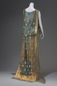 Evening dress made from an Indian sari, first quarter 20th century From the MFA Boston