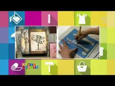 Stencil OPA - 09/09/14 - Mayumi Takushi - Caixa Africana - YouTube Stencil Opa, Diy Videos, Painting, Stenciling, Biscuit, Decoration, Friends, Sweet, Tips
