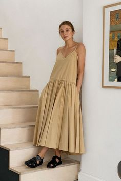 The Best Minimalist Dresses From COS, & Other Stories, Arket and More - - High street stores and designers alike are loving minimalist style this summer, particularly when it comes to dresses. See and shop our edit here. Cos Dresses, Spring Dresses, Minimalist Dresses, Minimalist Style, Minimalist Fashion Summer, Power Dressing, Cool Style, My Style, Fashion Tips