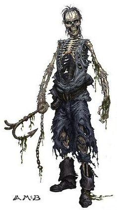 pirate skeleton concept art - Google Search