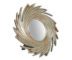 Specchio da tavolo in resina argento e oro Sandra, 24x24 cm