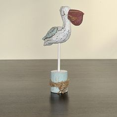 Pelican On Post     List $18.99   SKU 115178Large   2inches widex 8inches longx 10.5inches high    List $14.99   SKU 115179Small   2inches widex 6inches longx 7inches high
