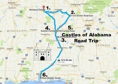 There's no need to travel to a faraway land to see extravagant castles. This road trip will lead you to Alabama's most majestic castles. Free Travel, Travel Usa, Alabama College Football, American Football, Columbus Mississippi, Amish Country Ohio, Travel Vlog, Sweet Home Alabama, Long Weekend