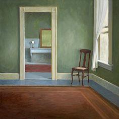 Paul Schulenburg, Creative Convergence: Cape CodShaving Mirror oil on canvas 30 x 30, framed 31 x 31 $6,300