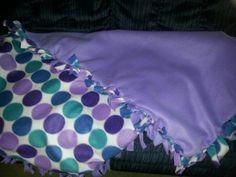Easy tie blanket