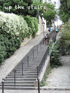 The stairs to Place Du Tertre, Montmartre, Paris
