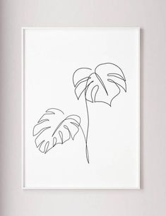 Monstera line art Tropic leaves print Abstract bo&; Monstera line art Tropic leaves print Abstract bo&; Karin Häring decorationhome Monstera line art Tropic leaves print Abstract botanic […] wall art Plant Wall Decor, Plant Art, Impressions Botaniques, Minimal Art, Modern Room Decor, Plant Tattoo, Desenho Tattoo, Plant Drawing, Leaf Drawing