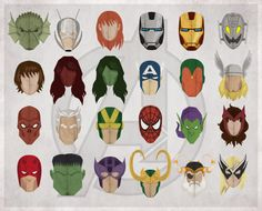 Marvel Headshots by Michael Myers #drawing #graphics