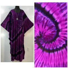 by qualicumclothworks on Etsy Caftans, Cotton Spandex, All Things, Bamboo, Tie Dye, Purple, Handmade, Stuff To Buy, Etsy