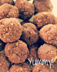Chocolate Protein Bliss Balls   ¼ cup raw cacao ¼ cup shredded coconut ¼ cup raw unsalted almonds 2 tablespoons of coconut oil/meat 3 tablespoons raw honey or agave nectar 2 tablespoons maca powder 3 dates 3 sachets of Stevia ½ teaspoon of vanilla 1 teaspoon cinnamon   Add all the ingredients to a food processor & blend until they combine into a sticky ball.  Scoop out individual portions & roll into little balls.   Refrigerate for at least 1hr before serving.   Makes 8-15 balls