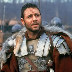 That pretty much sums up ancient Roman Hero Maximus Decimus Meridius, played by Russell Crowe in Gladiator, but allow us to elaborate. Gladiator Movie, Gladiator 2000, Gladiator Maximus, Movies Showing, Movies And Tv Shows, Russell Crowe Gladiator, Movie Stars, Movie Tv, Are You Not Entertained