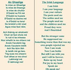 Let we Irish revive our language. Irish Poems, Irish Quotes, Irish Blessing, Irish Sayings, Gaelic Quotes, Gaelic Words, Irish Celtic, Gaelic Irish, Irish Proverbs