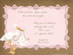Cutiebabes baby shower boy invitations 37 babyshower baby girl stork baby shower custom and printable by sweetpartyprints 1500 filmwisefo